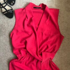 Red Tahari Wrap Dress